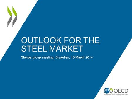 OUTLOOK FOR THE STEEL MARKET Sherpa group meeting, Bruxelles, 13 March 2014.