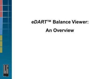 EDART Balance Viewer: An Overview. 2 Balance Viewer Tool We will cover balancing a tool at startup with cavity pressure, the same with temperature sensors.