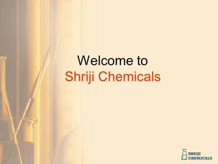 Welcome to Shriji Chemicals. Started by Mr. Ramesh Modi and Mrs. Manisha Chaudhary in 1982 with an intention to serve electroforming industry in India.