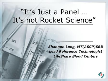"""It's Just a Panel … It's not Rocket Science"""
