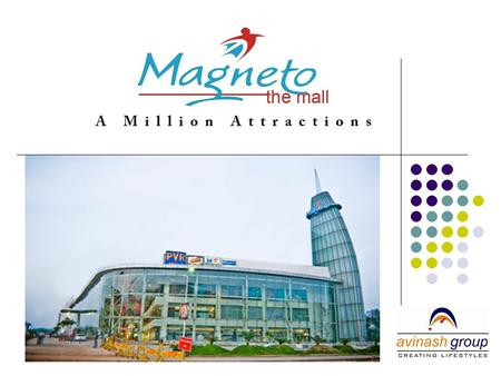 Mall Synopsis Central Indias first million sqft Mall Magneto gives an enthralling international ambience with architecture done by fame Arch Hafeez.