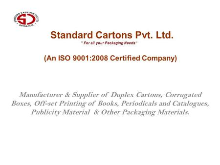 Standard Cartons Pvt. Ltd.