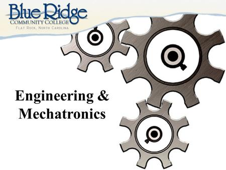 Engineering & Mechatronics. Is there an Engineer in you? When something breaks, do you throw it away or do you try to fix it? If you know its broken,