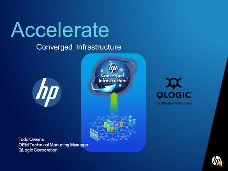 Accelerate Converged Infrastructure Todd Owens OEM Technical Marketing Manager QLogic Corporation.