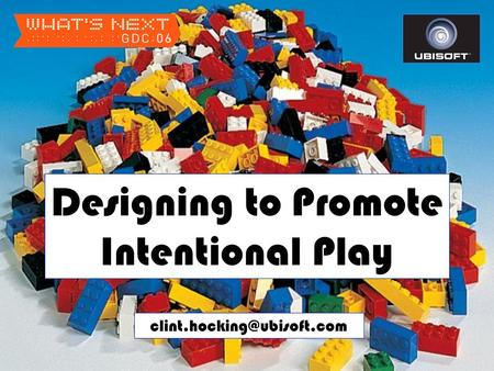 Designing to Promote Intentional Play