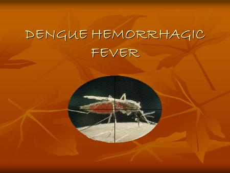 DENGUE HEMORRHAGIC FEVER. ALTERNATIVE NAMES Hemorrhagic dengue Hemorrhagic dengue Dengue shock syndrome Dengue shock syndrome Philippine hemorrhagic fever.
