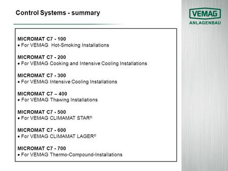 Control Systems - summary