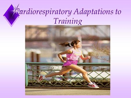Cardiorespiratory Adaptations to Training. Cardiovascular Adaptations From Aerobic Training u Increased cardiorespiratory endurance u Increased muscular.