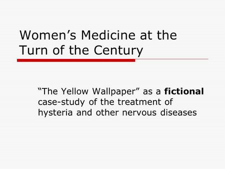 a question of jane in charlotte perkins gilmans story the yellow wallpaper Charlotte perkins gilman gilman emerged as an acknowledged force on the literary scene with her short story the yellow wallpaper questions of what.