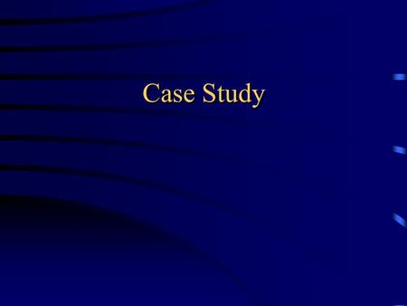 Case Study. Patient AH 51-year-old male patient family history of hyperlipidemia status post myocardial infarction x 2 (1995,1997) Coronary artery bypass.