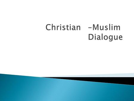 Muslim Christian Dialogue (With Arabic Translation) H. M. Baagil, M.D.