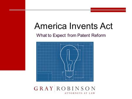 America Invents Act What to Expect from Patent Reform.