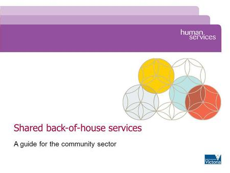 Shared back-of-house services A guide for the community sector.