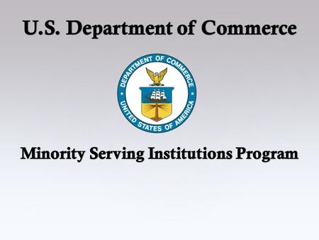 1. 2 Overview Minority Serving Institutions Definitions Executive Orders Initiatives Reporting & Funding High Achievers States & Territories Contact Information.