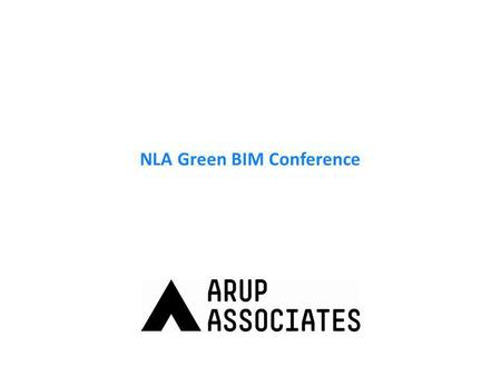 NLA Green BIM Conference. What is 'Green