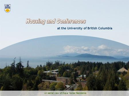 An aerial view of Place Vanier Residence at the University of British Columbia.