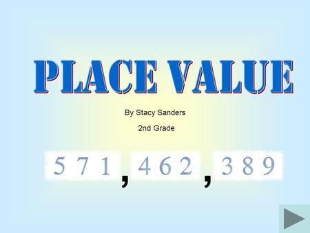,, By Stacy Sanders 2nd Grade ,, You are going to learn about numbers When you finish you should know what place value is!