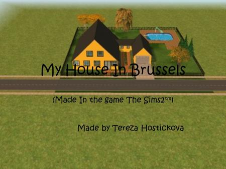 My House In Brussels (Made In the game The Sims2 tm ) Made by Tereza Hostickova.