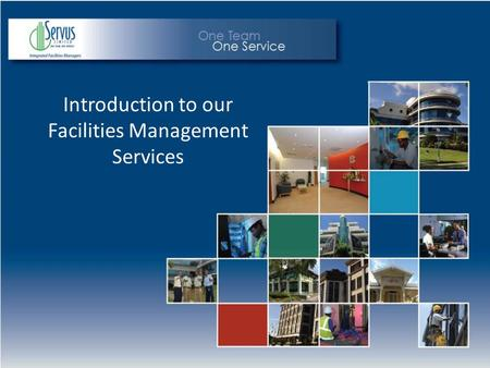 Introduction to our Facilities Management Services.
