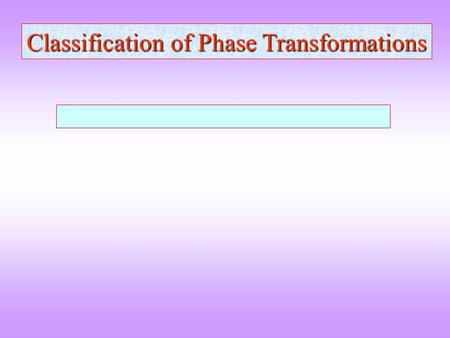 Classification of Phase Transformations. Functions and discontinuity in differentials f(x) g(x) h(x)