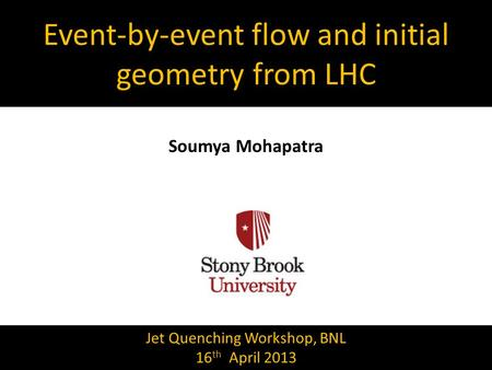 Event-by-event flow and initial geometry from LHC