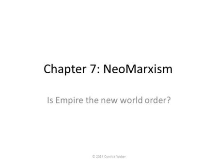Is Empire the new world order?