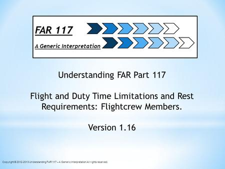 Understanding FAR Part 117