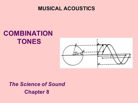 COMBINATION TONES The Science of Sound Chapter 8 MUSICAL ACOUSTICS.