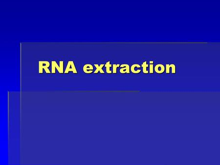 RNA extraction. Nucleic Acid Chemistry DNA (deoxyribonucleic acid) and RNA (ribonucleic acid) store and transfer genetic information in living organisms.