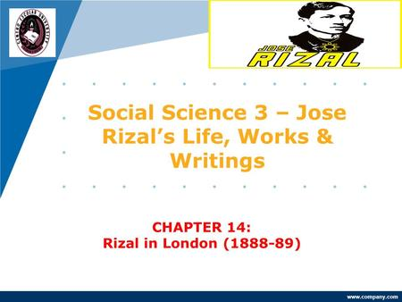 Social Science 3 – Jose Rizal's Life, Works & Writings