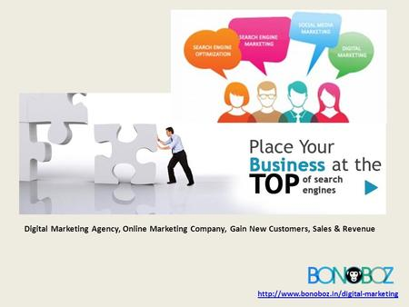 Digital Marketing Agency, Online Marketing Company, Gain New Customers, Sales & Revenue