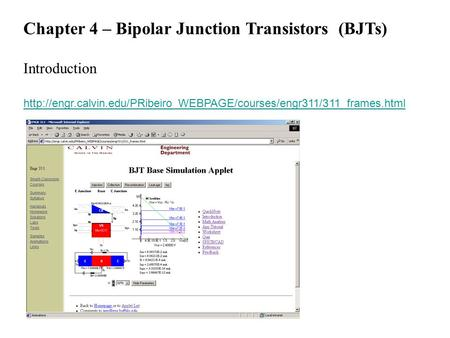 Chapter 4 – Bipolar Junction Transistors (BJTs) Introduction
