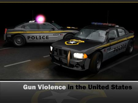 Gun Violence in the United States. Background Information Gun violence is associated with a high rate of fatalities in the United States; it is an intensely.