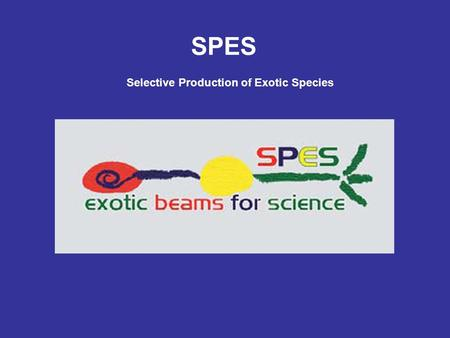 SPES Selective Production of Exotic Species. SPES Steering Committee - Operative since july 2007 - 22 meetings – next on March 2012 - All documents (minutes,