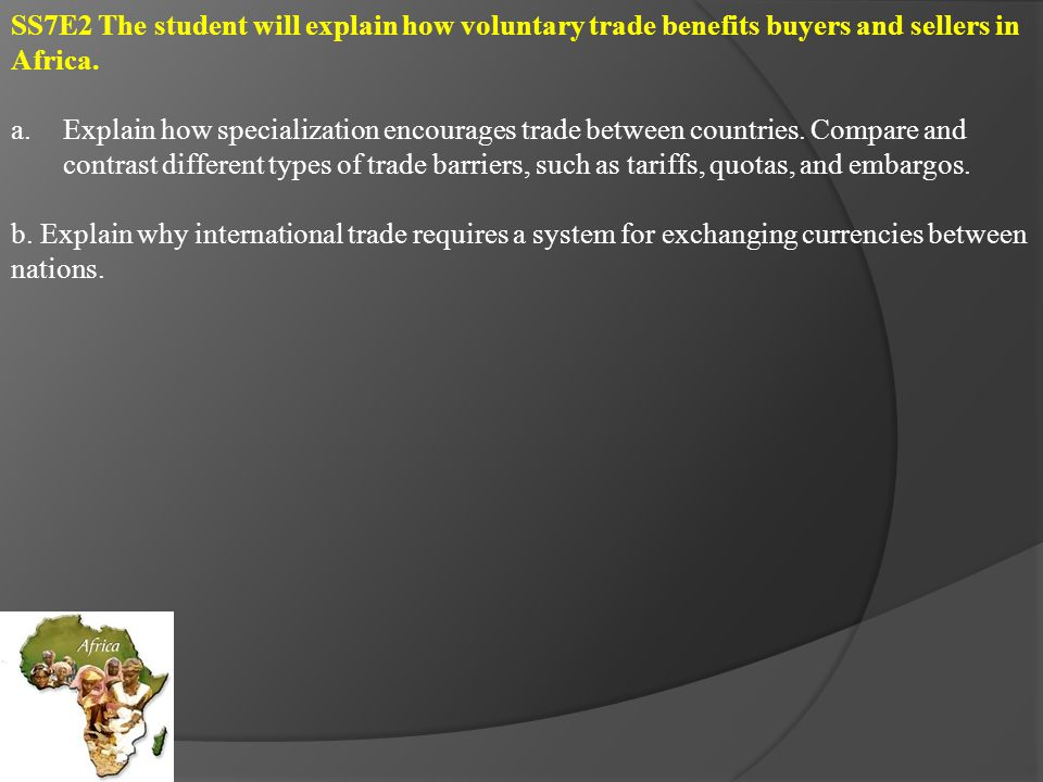 Specialization – economic term that refers to a country relying on a limited number of sources to generate income.