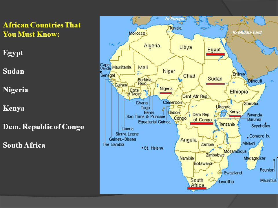 SS7G2 The student will discuss environmental issues across the continent of Africa.