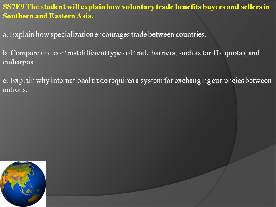 SS7E10 The student will describe factors that influence economic growth and examine their presence or absence in India, China, and Japan.