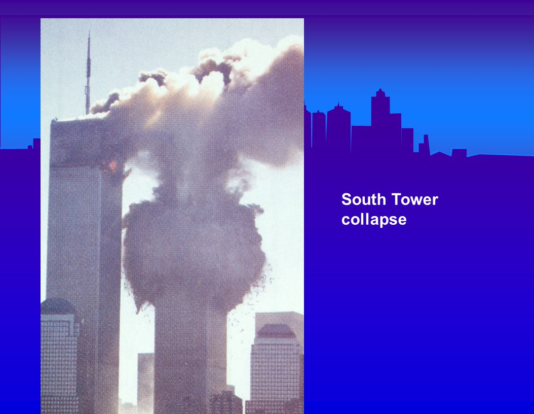 Just after the South Tower collapse