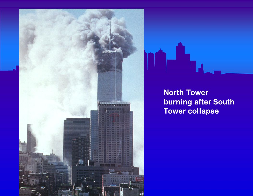 Ground Zero after collapse of both towers