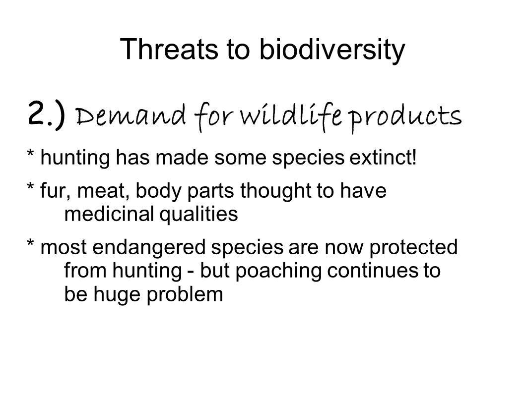 Threats to biodiversity 3.) Pollution - major factor is toxic compound accumulation - Biological magnification - fig.