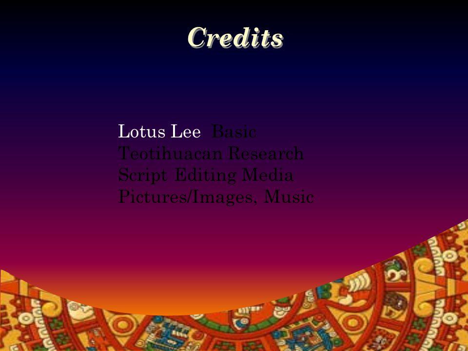 Credits Damon Klebe - Research: Architectural Symbolism, Landscape,Centralization, Nationalism; Organization; Bibliography.