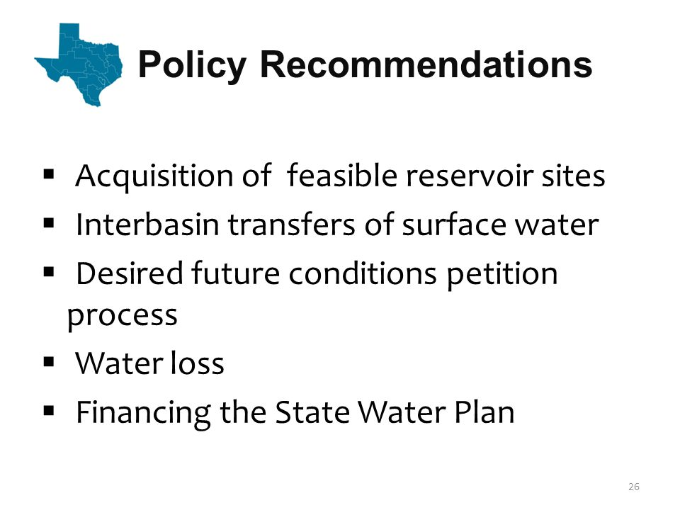 Schedule  Public meetings October 3, 4, 6 & 11  Public hearing October 17 in Austin  Public comment period closes October 25  Board consider approval of 2012 State Water Plan November 17  Deliver approved plan to the Governor and Legislature January 5, 2012 27