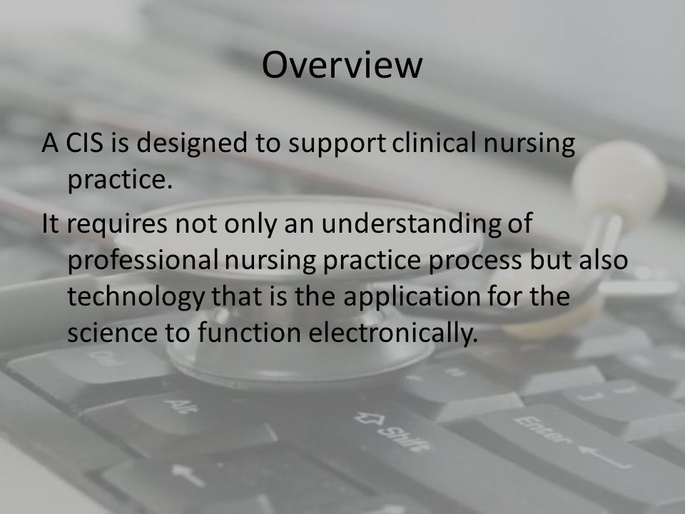 Overview The increased interest in NI occurred because of the concerted efforts of several groups that promoted nursing as an integral part of the EHR systems being implemented in healthcare.