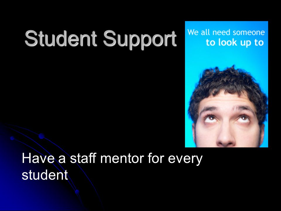 Student Support Watch for isolated, loner students Get them involved in music, sports, academics Chess Club