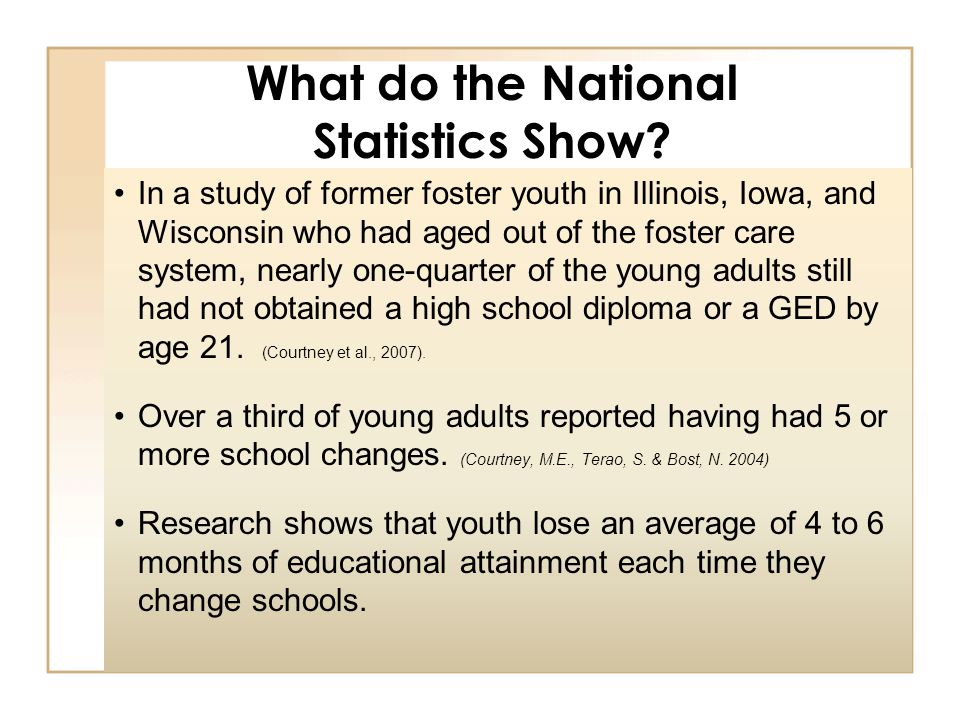 Results from the Independent Living Chart Book compiled by DCF in 2007.