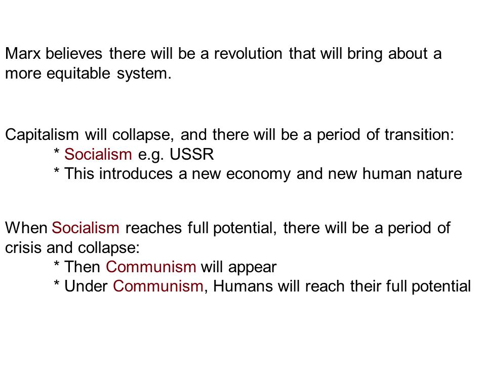 Why will there be a revolution against capitalism.