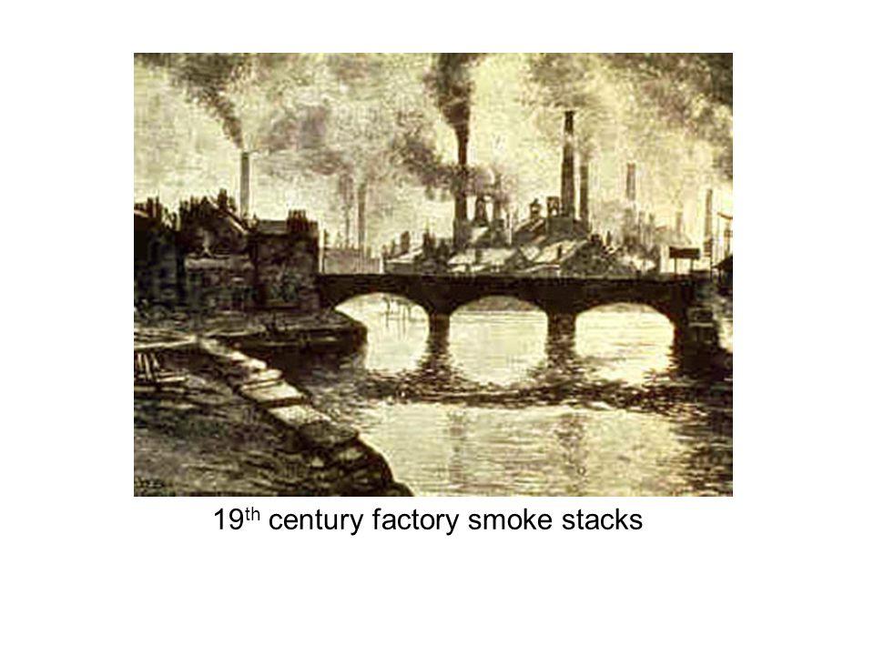 21 st century factory smoke stacks