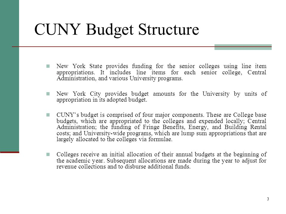4 Other Appropriated Funds - State The State Budget for the senior colleges includes $145 million in appropriation for special revenue accounts, including the Income Fund Reimbursable Account (IFR), the City University Tuition Reimbursement Account (CUTRA), and the City University Stabilization Account.