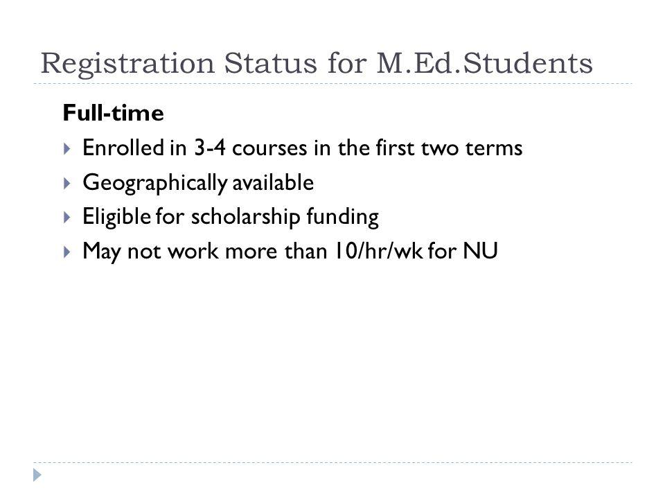 Registration Status for ME.D.