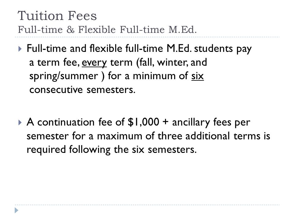 Tuition Fees - Ph.D. Ph.D.